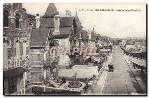 Postcard Old Nice Havre Avenue Reine Elisabath