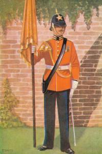 Military postcard Garderegiment Prinses Irene Ceremoniële tenue 02.14