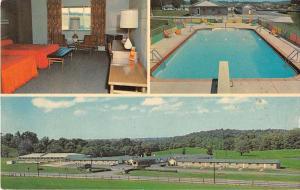 Norwich Ohio Bakers Motel Vintage Postcard J51014