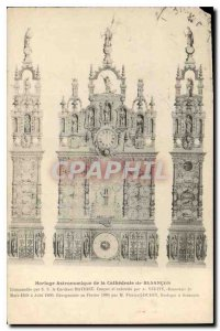 Postcard Old Astronomical Clock of the Cathedral of Besancon