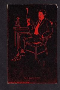 Silhouette The Bachelor Smoking Phone Postcard D Hillson Carte Postale