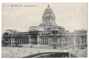 Belgium Brussels Bruxelles Palais de Justice Postcard