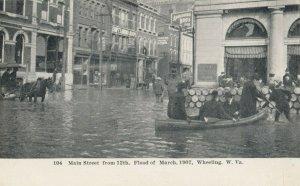 WHEELING , West Virginia, 1907 ; Flood , Main Street