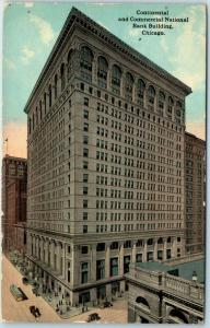 1913 Chicago Illinois Postcard Continental & Commercial National Bank Building