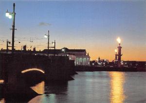 Russia Sankt Petersburg Via the Spit of Vasilievsky Island Bridge Pont