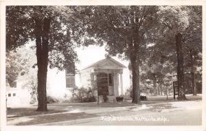 D18/ Northville Michigan Mi Real Photo RPPC Postcard c1940s Baptist Church