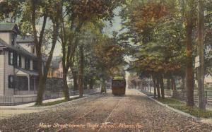 Main Street, Corner, Tioga Street, Trolley, ATHENS, Pennsylvania, PU-1916