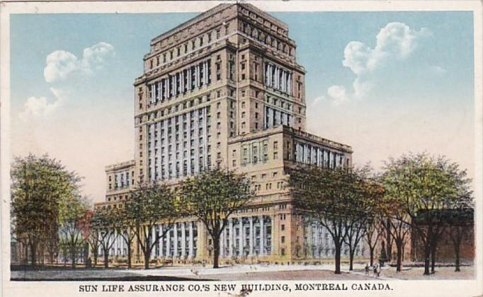 Canada Montreal Sun Life Assurance Company New Building