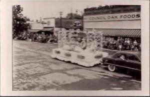 IA Orange City Parade Chamber Commerce Float Real Photo