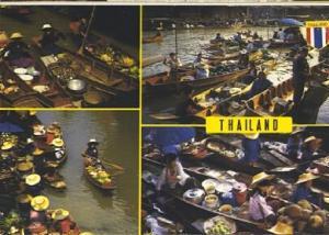 POSTAL 56943: Thailand The Floating Market at Damnernsaduok in Rajchaburi