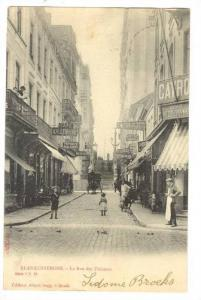 Blankenberge , Belgium , La Rue des Pecheurs, PU-1913
