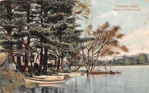 Boats on Sabatia Lake Taunton, Massachusetts Postcard