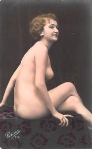 French Tinted Nude Postcard Non Postcard Backing Unused very close to perfect