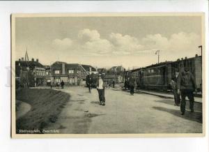 271255 Netherlands Zwartsluis railway station Vintage postcard