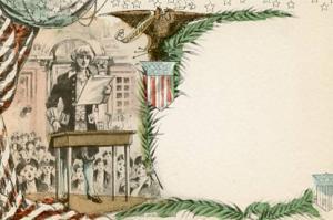 Blank Note Card, Patriotic, Woolums
