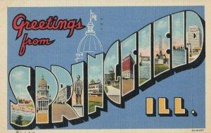 Large Letter SPRINGFIELD , Illinois, 30-40s