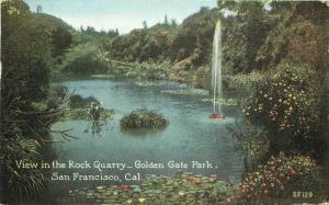 1918 View Rock Quarry Golden Gate Park SAN FRANCISCO CALIFORNIA 2961 Posstcard