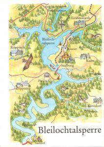 B98979 bleilochtalsperre   germany  maps cartes geographiques
