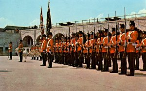 Canada - ON, Kingston. Old Fort Henry Guard on Parade