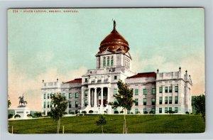 Helena MT, State Capitol, Vintage Montana Postcard