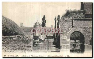 Old Postcard Guingamp The Entrance of the Abbey