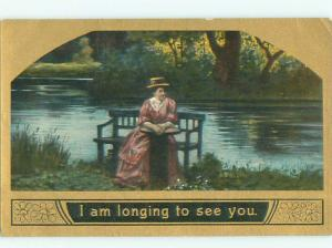Divided-Back PRETTY WOMAN Risque Interest Postcard AA8024