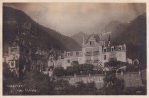 Hotel Richelieu Territet Antique Switzerland Postcard