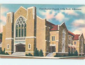 Unused Linen CHURCH SCENE Little Rock Arkansas AR hs7382