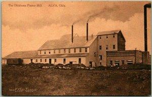 ALVA, Oklahoma Postcard The Oklahoma Plaster Mill Factory Building View c1910s