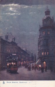 TUCK# 1458; NEWPORT, Cornwall, England, United Kingdom; High Street at Night,...