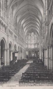 Chartres Saint Pierre Eglise L'Eglise Church Interior French Antique Postcard