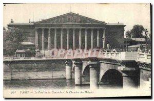 Postcard Old Paris Le Pont de la Concorde and the Chamber of Deputies