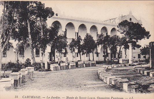 Carthage,Tunis, Tunisia , 00-10s ; Le Jardin .- Musee de Saint-Louis, Ossuair...