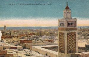 TUNIS , Tunisia , 1910s ; Vue generale et la Grande Mosquee