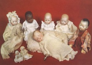 German Baby Dolls incl Chinese Lilliput Museum Isle Of Wight Postcard