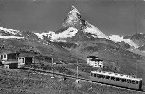 br106153 zermatt gornergratbahn station hotel rifelberg Switzerland train