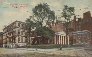 BALTIMORE, Maryland, PU-1912; University of Maryland, School of Medicine