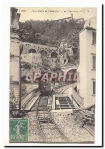 Lyon Old Postcard Funicular of Saint Just and Fourvières