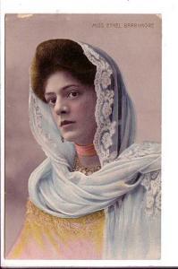 Miss Ethel Barrymore, Actress, Colour Photo