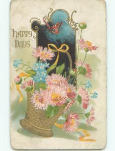 Divided-Back BEAUTIFUL FLOWERS SCENE Great Postcard AA3815