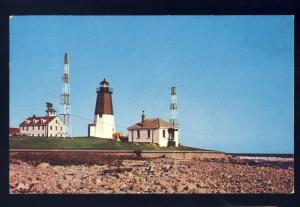 Point Judith, Rhode Island/RI Postcard, Point Judith Lighthouse/Light, 1957!