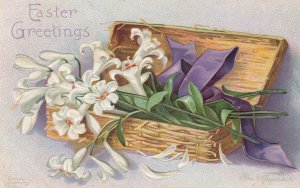 EASTER ; Box of Lilly Flowrrs , 1909 ; CLAPSADDLE