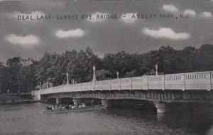 Sunset Avenue Bridge Over Deal Lake Asbury Park New Jersey