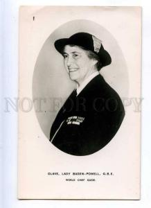 216399 OLAVE Lady BADEN-POWELL Scout & Girl Guides PHOTO old
