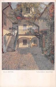 B23993 ella rthe geburtshaus amerlings painting postcard austria