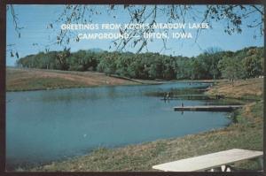 Koch Lake Meadow Campground Tipton Iowa Postcard