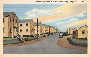 Military Post Card Officers' Quarters and Mess Halls at Camp Campbell Ke...