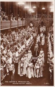 The Queen's Procession Westminster Abbey 2 June 1953 Real Photo