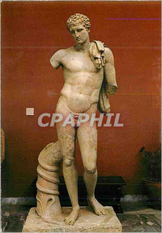 Postcard Modern Athens Hermes Andros