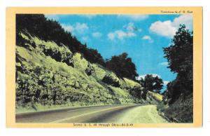 Ohio Scenic US Route 40 National Highway C H Ruth Photo Vintage Postcard